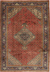 Ardebil Rug 210X298 Authentic Oriental Handknotted Dark Grey/Rust Red (Wool, Persia/Iran)