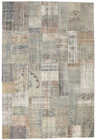 Patchwork Rug 201X299 Authentic  Modern Handknotted Light Grey/Light Brown (Wool, Turkey)