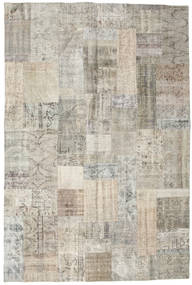 Patchwork Rug 201X302 Authentic Modern Handknotted Light Grey/Light Brown (Wool, Turkey)
