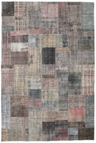 Patchwork Rug 202X300 Authentic  Modern Handknotted Dark Grey/Light Grey (Wool, Turkey)