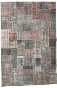 Patchwork Rug 201X299 Authentic  Modern Handknotted Dark Grey/Light Grey (Wool, Turkey)