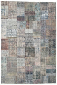Patchwork Rug 203X302 Authentic  Modern Handknotted Light Grey/Dark Grey (Wool, Turkey)