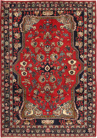 Ardebil Rug 208X310 Authentic Oriental Handknotted Dark Grey/Crimson Red (Wool, Persia/Iran)