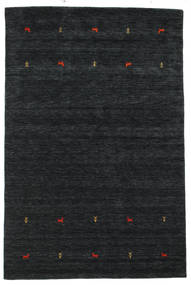 Gabbeh Loom Two Lines - Black/Grey Rug 190X290 Modern Dark Blue (Wool, India)