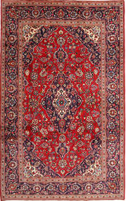 Keshan Rug 200X315 Authentic  Oriental Handknotted Brown/Dark Red (Wool, Persia/Iran)