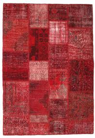 Patchwork Rug 140X201 Authentic Modern Handknotted Dark Red/Crimson Red (Wool, Turkey)