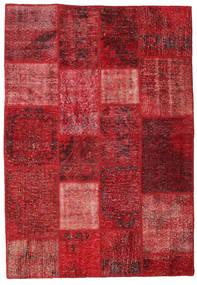 Patchwork Rug 137X200 Authentic  Modern Handknotted Dark Red/Crimson Red (Wool, Turkey)
