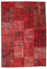 Patchwork Alfombra 136X202 Moderna Hecha A Mano Rojo Oscuro/Óxido/Roja (Lana, Turquía)