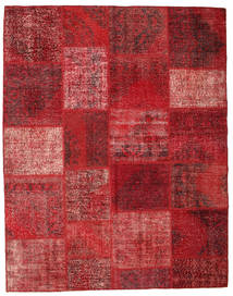 Patchwork Rug 198X251 Authentic  Modern Handknotted Dark Red/Rust Red (Wool, Turkey)