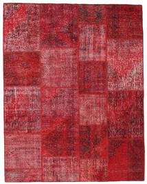 Patchwork Teppich 198X251 Echter Moderner Handgeknüpfter Dunkelrot/Rot (Wolle, Türkei)