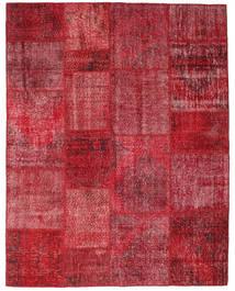 Patchwork Rug 198X252 Authentic  Modern Handknotted Dark Red/Crimson Red (Wool, Turkey)