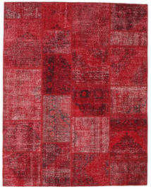 Patchwork Rug 198X251 Authentic  Modern Handknotted Dark Red/Crimson Red (Wool, Turkey)