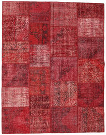 Patchwork Rug 196X250 Authentic  Modern Handknotted Dark Red/Crimson Red (Wool, Turkey)