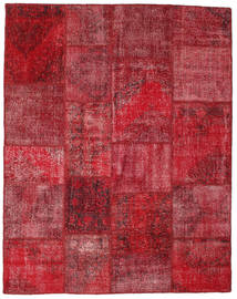Patchwork Rug 198X250 Authentic  Modern Handknotted Dark Red/Crimson Red (Wool, Turkey)