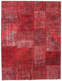 Patchwork Rug 192X251 Authentic  Modern Handknotted Dark Red/Crimson Red (Wool, Turkey)