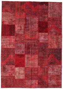 Patchwork Rug 246X352 Authentic  Modern Handknotted Dark Red/Crimson Red (Wool, Turkey)