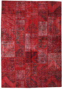Patchwork Rug 248X352 Authentic  Modern Handknotted Dark Red/Crimson Red (Wool, Turkey)