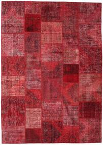 パッチワーク 絨毯 247X350 モダン 手織り 深紅色の/赤 (ウール, トルコ)