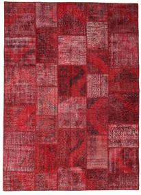 Patchwork Teppe 248X348 Ekte Moderne Håndknyttet Mørk Rød/Rød (Ull, Tyrkia)