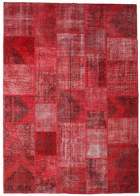 Patchwork Rug 250X356 Authentic  Modern Handknotted Dark Red/Crimson Red/Rust Red Large (Wool, Turkey)