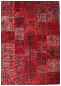 Patchwork Rug 247X353 Authentic  Modern Handknotted Dark Red/Crimson Red (Wool, Turkey)