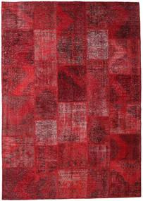 Patchwork Rug 248X352 Authentic  Modern Handknotted Dark Red/Crimson Red (Wool, Turkey)