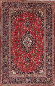 Keshan Teppe 195X307 Ekte Orientalsk Håndknyttet Mørk Rød/Mørk Brun (Ull, Persia/Iran)