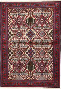 Meimeh Matto 112X158 Itämainen Käsinsolmittu Tummanpunainen/Tummanvioletti (Villa, Persia/Iran)