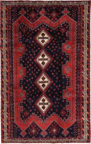 Afszar/Sirjan Dywan 195X310 Orientalny Tkany Ręcznie Ciemnozielony/Ciemnoczerwony (Wełna, Persja/Iran)