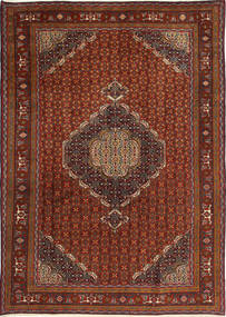 Ardebil Rug 195X275 Authentic  Oriental Handknotted Dark Brown/Dark Red (Wool, Persia/Iran)