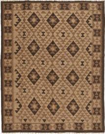 Kelim Maimane Teppich  158X199 Echter Orientalischer Handgewebter Braun/Hellbraun (Wolle, Afghanistan)