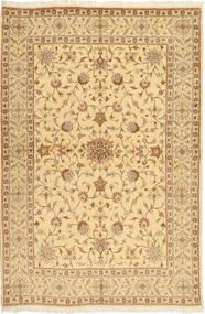 Yazd Matta 165X245 Äkta Orientalisk Handknuten Mörkbeige/Ljusbrun (Ull, Persien/Iran)