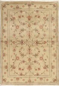 Yazd Matta 171X250 Äkta Orientalisk Handknuten Beige/Mörkbeige/Ljusbrun (Ull, Persien/Iran)