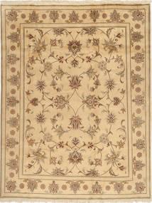 Yazd Matto 196X250 Itämainen Käsinsolmittu Vaaleanruskea/Tummanbeige (Villa, Persia/Iran)