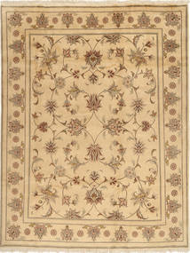 Yazd Rug 196X250 Authentic Oriental Handknotted Light Brown/Dark Beige (Wool, Persia/Iran)