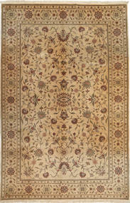 Yazd Rug 193X307 Authentic  Oriental Handknotted Light Brown/Brown (Wool, Persia/Iran)