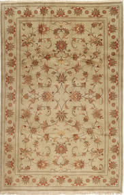 Yazd Rug 195X305 Authentic  Oriental Handknotted Light Brown/Brown (Wool, Persia/Iran)