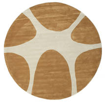 Stones Handtufted - Brown Rug Ø 225 Modern Round Brown/Dark Beige/Light Brown (Wool, India)