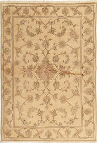 Yazd Rug 170X244 Authentic  Oriental Handknotted Light Brown/Dark Beige (Wool, Persia/Iran)