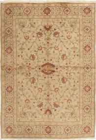Yazd Matta 169X244 Äkta Orientalisk Handknuten Ljusbrun/Mörkbeige (Ull, Persien/Iran)
