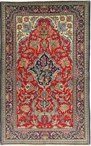 Qom Sherkat Farsh Covor 152X248 Orientale Lucrat Manual Negru/Roșu-Închis (Lână, Persia/Iran)