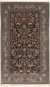 Ghom Sherkat Farsh Matta 145X250 Äkta Orientalisk Handknuten Mörkgrå/Svart (Ull, Persien/Iran)