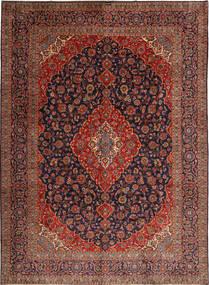 カシャン 絨毯 312X425 オリエンタル 手織り 深紅色の/濃い紫 大きな (ウール, ペルシャ/イラン)
