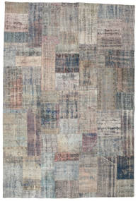 Patchwork Rug 202X302 Authentic  Modern Handknotted Light Grey/Dark Grey (Wool, Turkey)