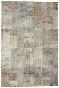 Patchwork Rug 201X299 Authentic  Modern Handknotted Light Grey (Wool, Turkey)