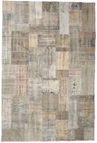 パッチワーク 絨毯 200X301 モダン 手織り 薄茶色/薄い灰色 (ウール, トルコ)