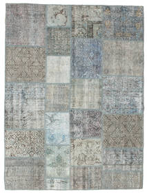 Patchwork Rug 171X230 Authentic  Modern Handknotted Light Grey (Wool, Turkey)