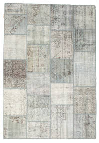 Patchwork Rug 158X230 Authentic  Modern Handknotted Light Grey/Beige (Wool, Turkey)
