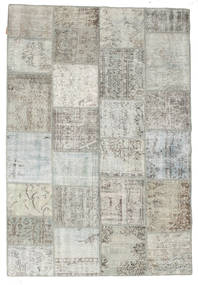 Patchwork Rug 158X232 Authentic  Modern Handknotted Light Grey/Beige (Wool, Turkey)