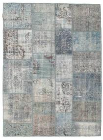 Patchwork Alfombra 172X231 Moderna Hecha A Mano Gris Claro/Azul (Lana, Turquía)